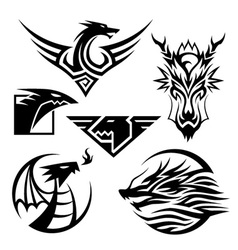 Dragon symbols vector