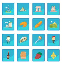 France travel icon blue app vector