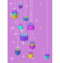 gifts boxes and stars vector image vector image
