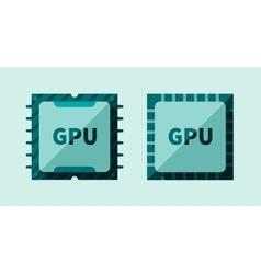 GPU microchip vector image