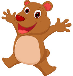Happy bear cartoon vector