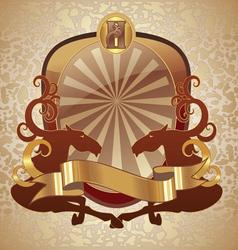 horse heraldry coat vector image vector image