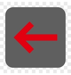Left arrow rounded square button vector