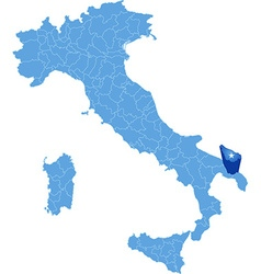 Map of Italy Brindisi vector image vector image