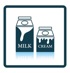 Milk and cream container icon vector image