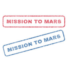Mission to mars textile stamps vector