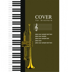 music brochure cover vector image vector image