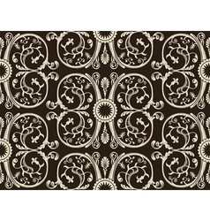 seamless vintage heraldic wallpaper black backgrou vector image vector image