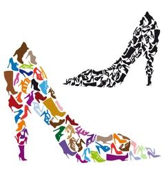 Shoe silhouettes vector