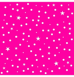 Star Polka Dot Pink Background vector image vector image