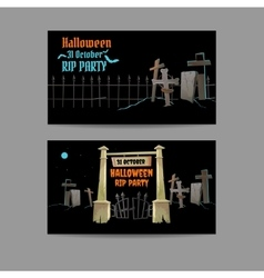 Two horizontal cards invitation for special event vector image