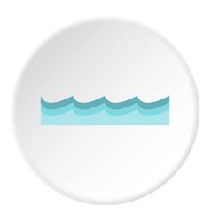 water icon circle vector image vector image