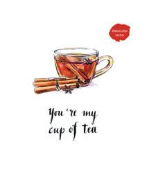 youre my cup of tea vector image