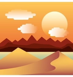 Mountains landscape picture isolated vector