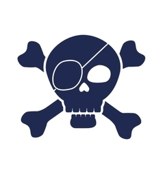 Skull pirate elegant frame vector