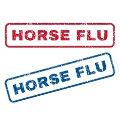 Horse flu rubber stamps vector