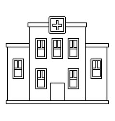 Hospital building icon outline style vector