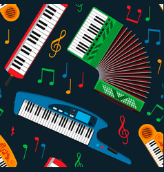 Synthesizer piano musical equipment seamless vector