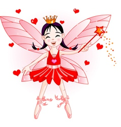 red fairy vector image