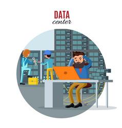 Technology repair service concept vector