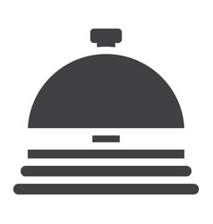 Hotell bell solid icon travel and tourism vector