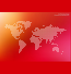 world map with squares rectangles for vector image