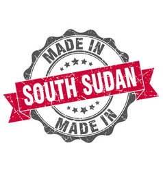 Made in south sudan round seal vector
