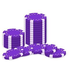 Violet poker chips vector image