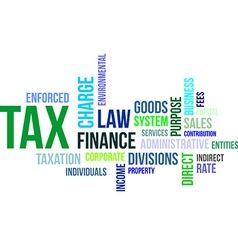Word cloud tax vector