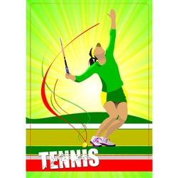 al 0724 woman tennis 02 vector image