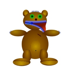 Doll of bear vector