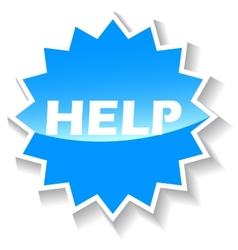 Help blue icon vector