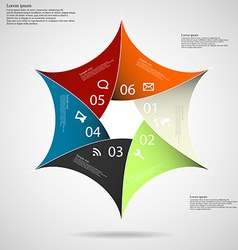 Hexagon star on light background vector