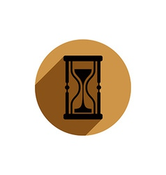Classic sand-glass antique hourglass placed in a vector