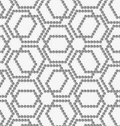 Flat gray with hexagonal complex grid vector