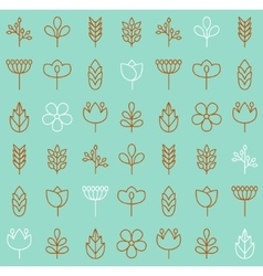 Plant icons background vector