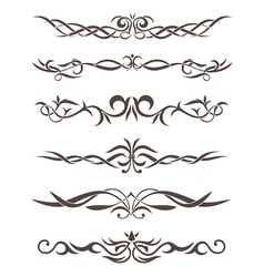 Beautiful stylized tattooes and ornament vector