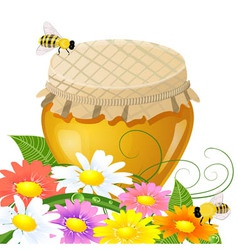 Honey jar vector