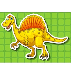 Yellow dinosaur with sharp teeth vector