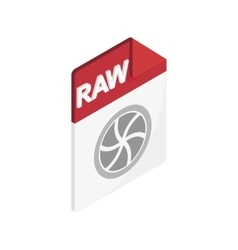 Raw icon isometric 3d style vector