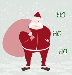 Happy santa claus face greeting isolated with back vector