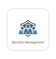 Security management icon flat design vector