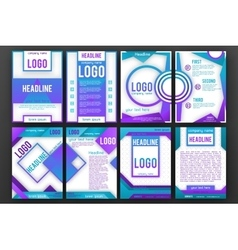 Brochure design layout template set vector