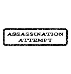 Assassination attempt watermark stamp vector
