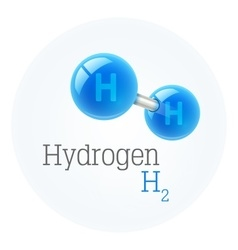 Chemistry model of hydrogen vector image