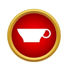 Cup icon in simple style vector image vector image