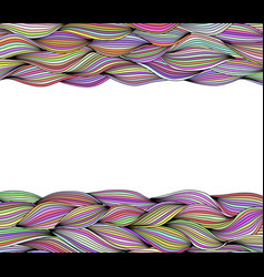 decorative background with horizontal wave threads vector image vector image