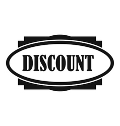 Discount oval label icon simple style vector