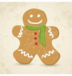 Doodle Gingerbread man vector image vector image