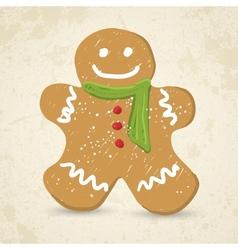 Doodle Gingerbread man vector image